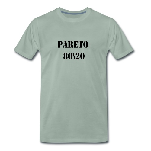 Pareto 80\20 - Männer Premium T-Shirt