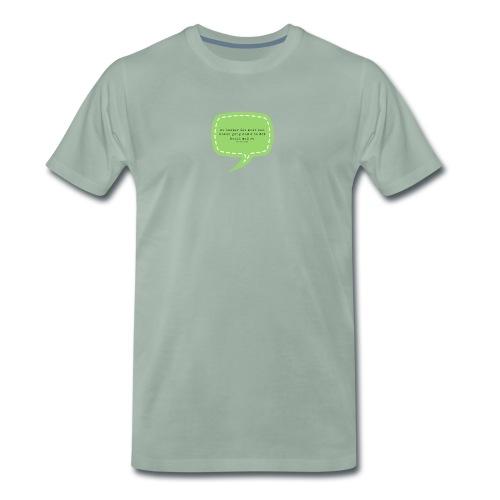 No hastar det… - Premium T-skjorte for menn