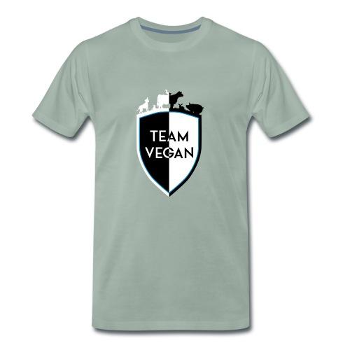 TEAM VEGAN SHIELD DIVISION - Männer Premium T-Shirt
