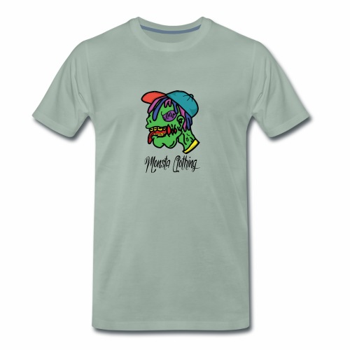 Monsta T-Shirt With Text - Men's Premium T-Shirt
