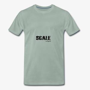 SCALE Logo schwarz - Männer Premium T-Shirt