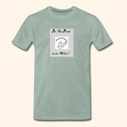 wall logo verticale - Maglietta Premium da uomo