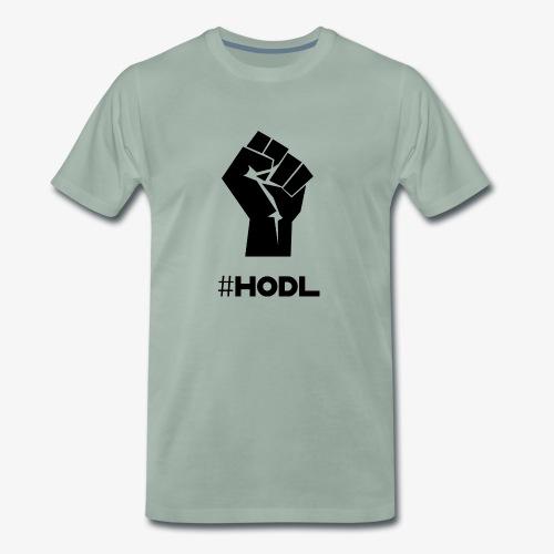 HODL-fist-b - Men's Premium T-Shirt