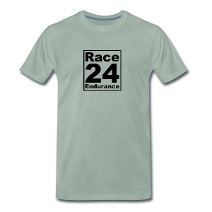 Race24 logo in black - Men's Premium T-Shirt
