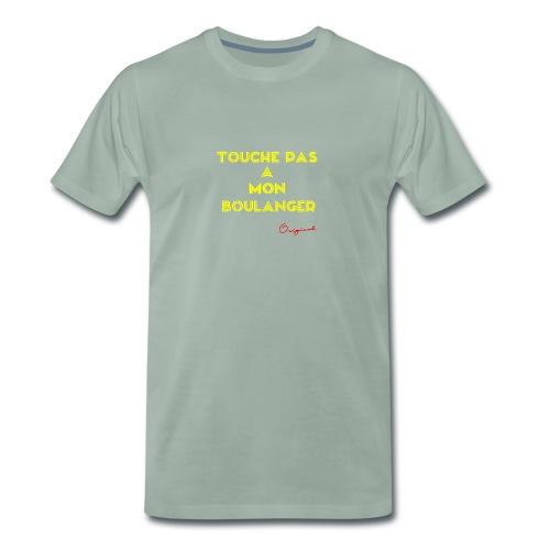 touche pas a mon boulanger jaune - T-shirt Premium Homme