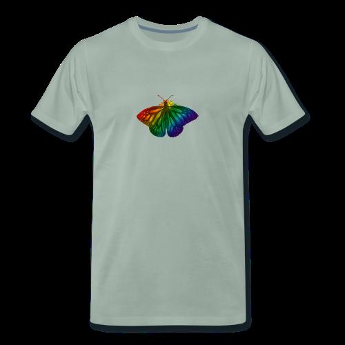 Regenboog vlinder - Freedom, Love en Happiness - Mannen Premium T-shirt