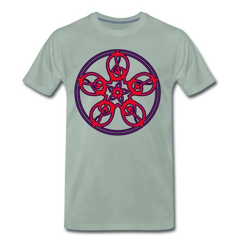 CELTIC CLEF MANDALA (red/violet/black) - Men's Premium T-Shirt