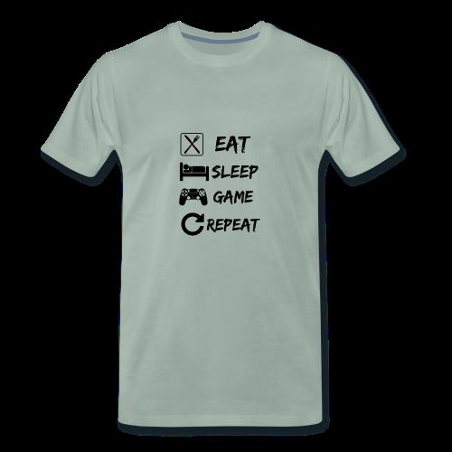 Eat_Sleep_Game_Repeat - Men's Premium T-Shirt