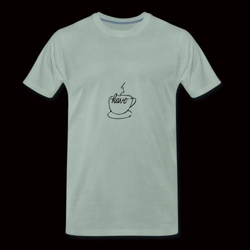 kave zeichnungbearbeitet 3 design ausgefüllt - Männer Premium T-Shirt
