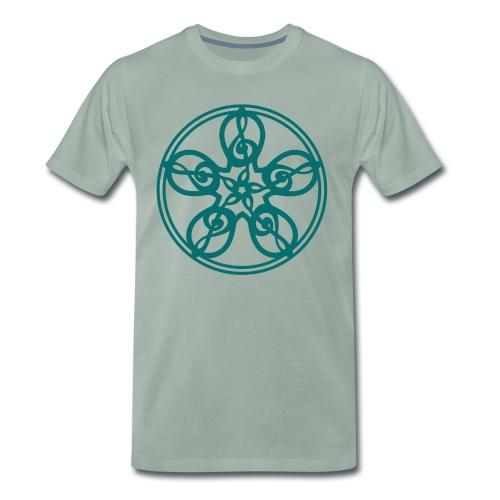 CELTIC CLEF MANDALA (teal) - Men's Premium T-Shirt