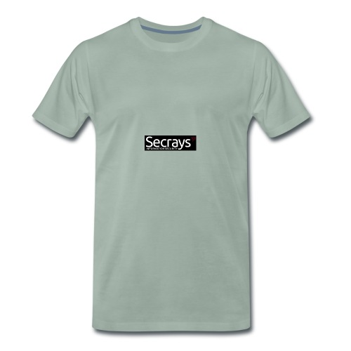 logo valkoinen teksti - Miesten premium t-paita