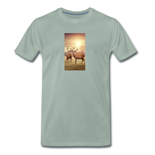 Hirschwiese - Männer Premium T-Shirt