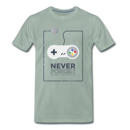 Super Konsole Gaming - Never Forget Retro 1990 - Männer Premium T-Shirt