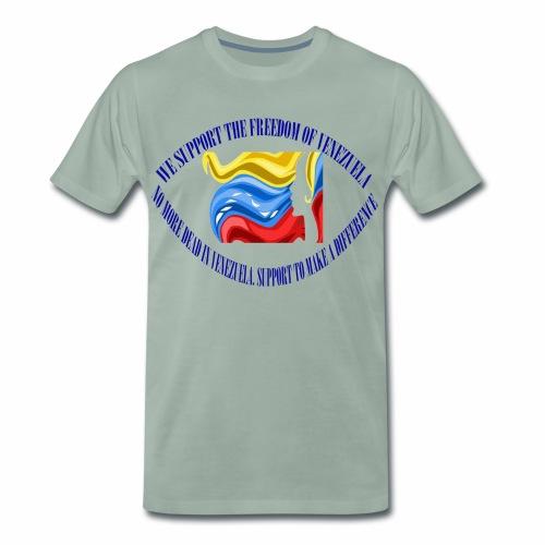Venezuela I support you - Men's Premium T-Shirt