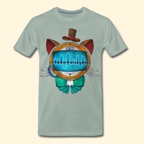 Shoupignon - Chat robot Steampunk - T-shirt Premium Homme