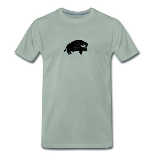 Bison Büffel Vintage - Männer Premium T-Shirt