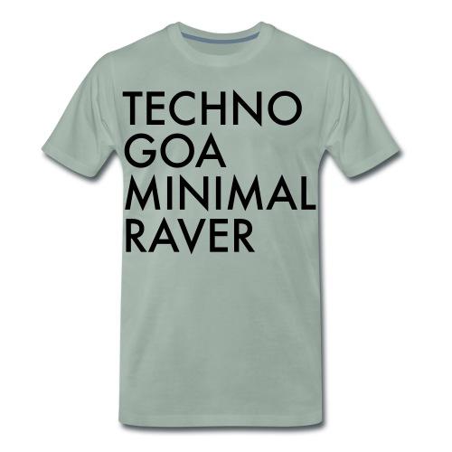 Techno Goa Minimal Raver Geschenk - Männer Premium T-Shirt