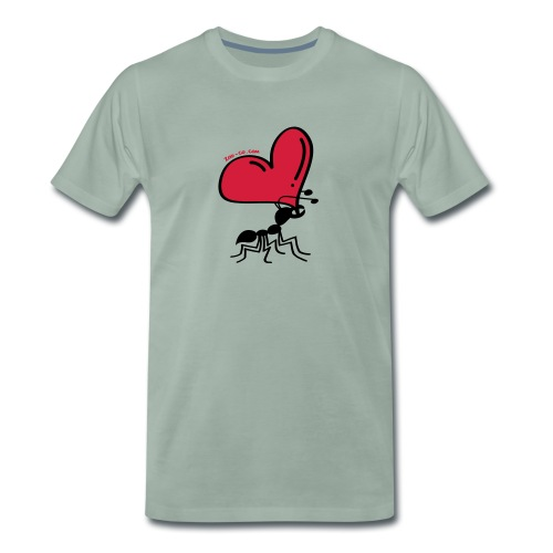 Ant Carrying the Love's Heart - Men's Premium T-Shirt
