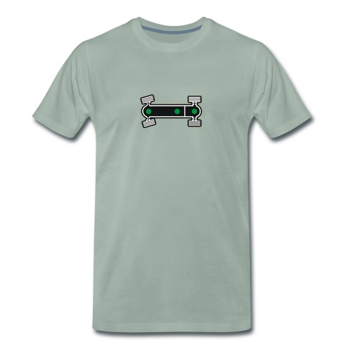 Diff Lock Diagram - Men's Premium T-Shirt
