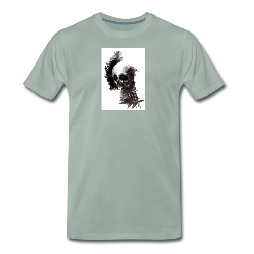skull leaf - Maglietta Premium da uomo