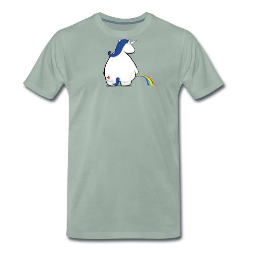 Regenbogen pinkelndes Einhorn - Männer Premium T-Shirt