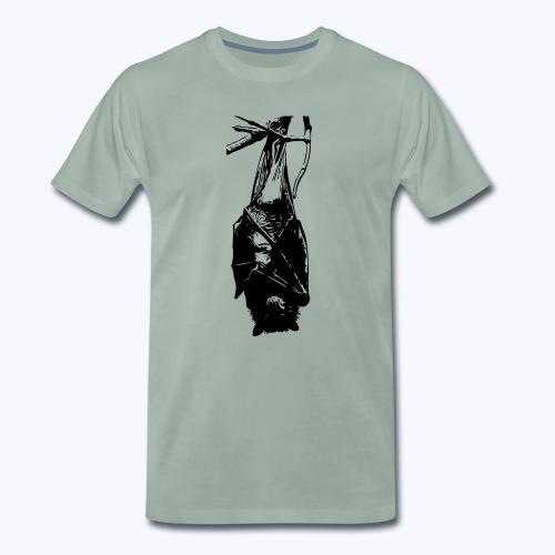 HangingBat schwarz - Männer Premium T-Shirt
