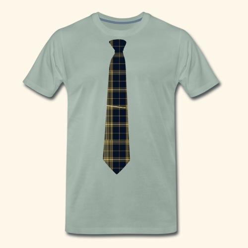Krawatte 124 mit Goldnadel - Männer Premium T-Shirt
