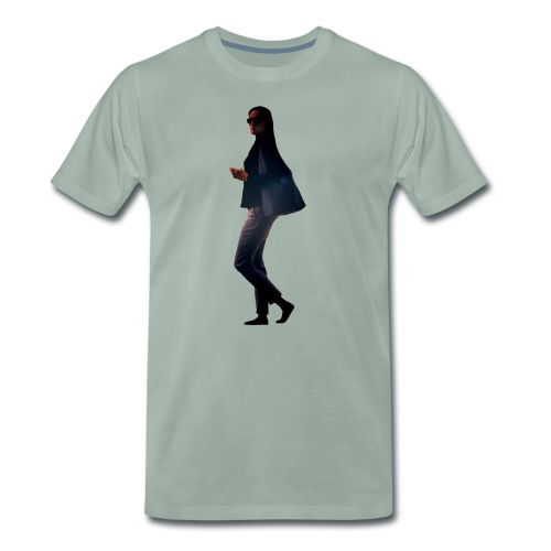 woman walking - Männer Premium T-Shirt
