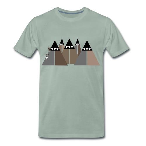 Eisklettern in den Bergen - Männer Premium T-Shirt