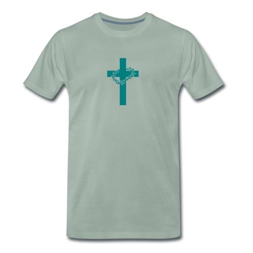 Cross with thorns - Männer Premium T-Shirt