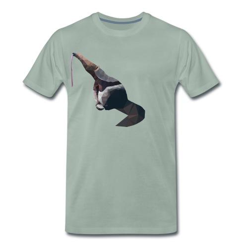 Lowpoly Ameisenbär mit rausgestreckter Zunge - Männer Premium T-Shirt