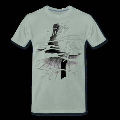 Ein Ort (grau) - Männer Premium T-Shirt