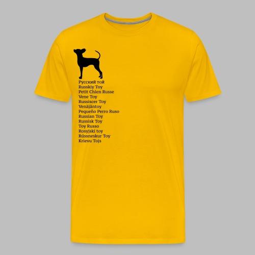 koirat kieletlk - Miesten premium t-paita