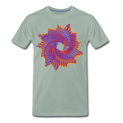Spiral-Fächer Ammonit Urzeittier Fossil 11912bry - Männer Premium T-Shirt