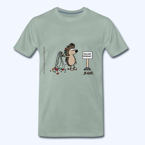 Igel - Ballon - Männer Premium T-Shirt