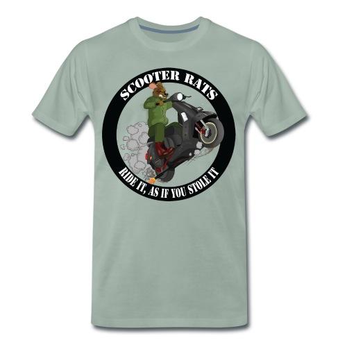 Scooter Rat - Men's Premium T-Shirt