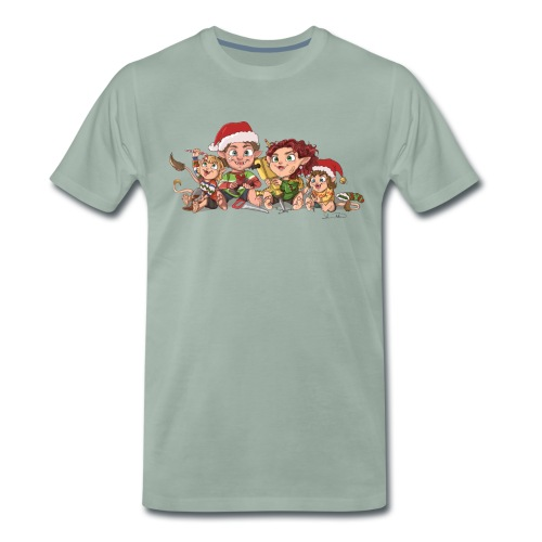 rickgoblinfamily xmas transparent - Men's Premium T-Shirt