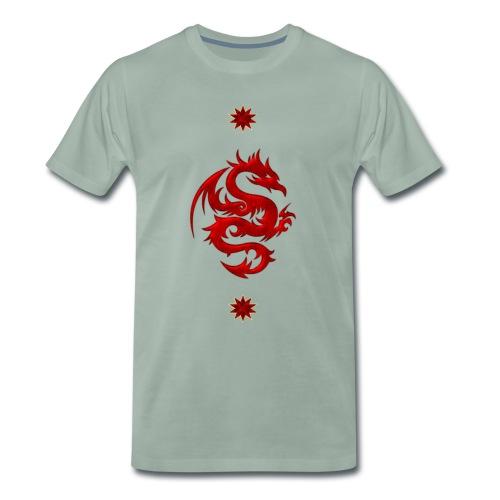 Impresionante rojo dragón chino - Camiseta premium hombre