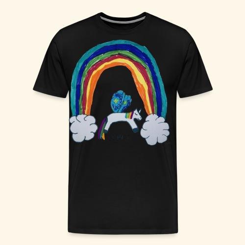 LeniT For Unicorns Only - Miesten premium t-paita