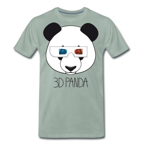 3D_Panda - Männer Premium T-Shirt