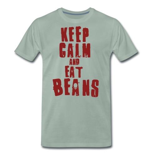 Keep Calm Beans - Männer Premium T-Shirt