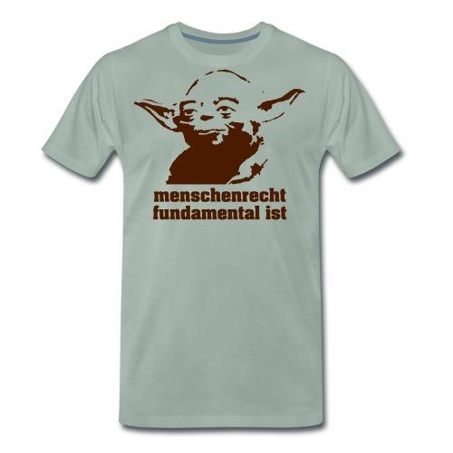 menschenrecht yoda (chocco) - Männer Premium T-Shirt