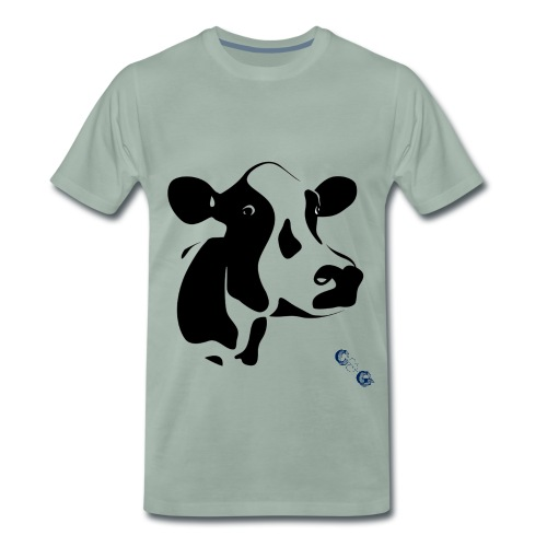 cow 01 copy png - Men's Premium T-Shirt