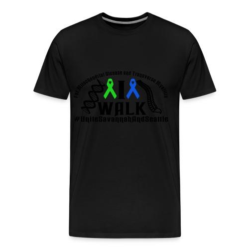 walk ribbons - Men's Premium T-Shirt