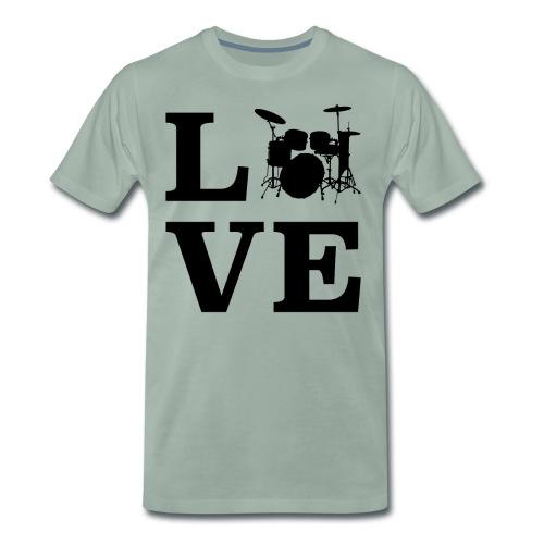I Love Drums / Schlagzeug T Shirt für Schlagzeuge - Männer Premium T-Shirt