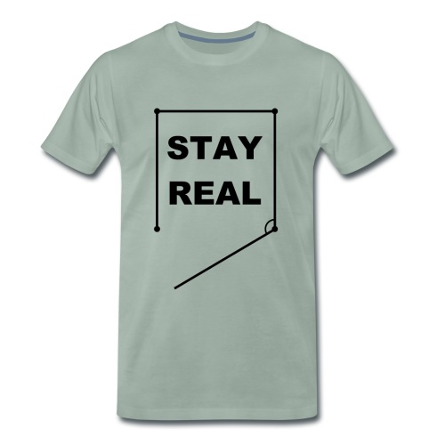 STAYREAL BLACK TRANS - Men's Premium T-Shirt