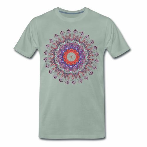 Orange mandala - Herre premium T-shirt