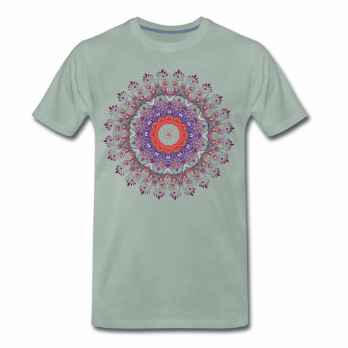 Orange mandala - Herre premium T-shirt