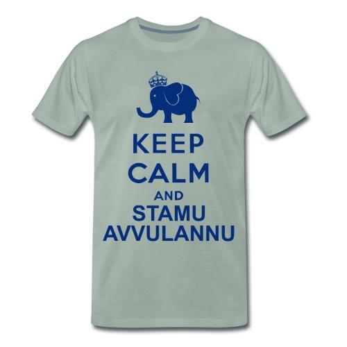 Keep calm and stamu avvulannu png - Maglietta Premium da uomo