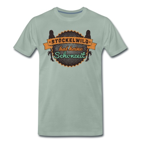 Stöckelwild Retro Badge - Männer Premium T-Shirt